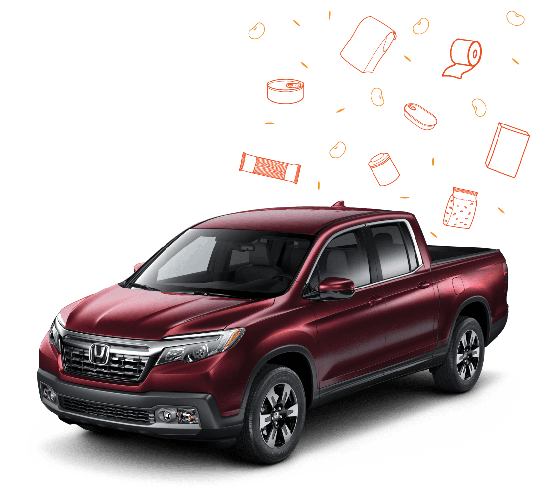 Pack the pickup for Harvesters