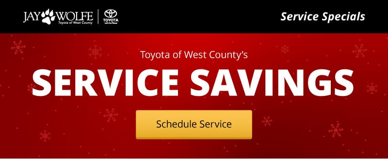 Service Specials from Toyota of West County