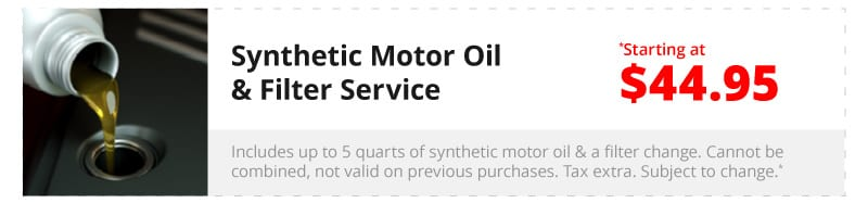 Synthetic Motor Oil & Filter Service