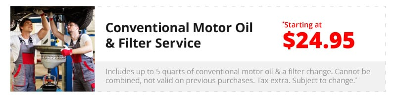 Conventional Motor Oil & Filter Service