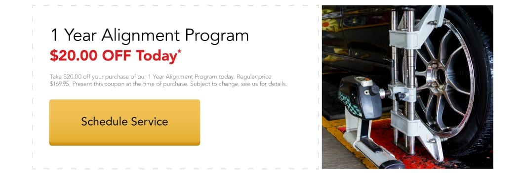 $20 OFF Your Alignment Program Today