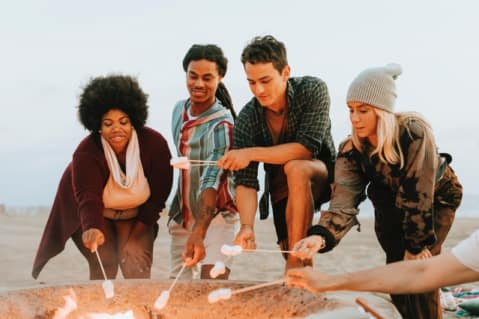 a firepit to build friendships