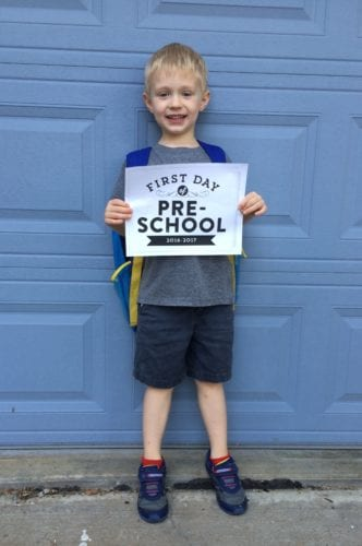 first day of school picture traditions