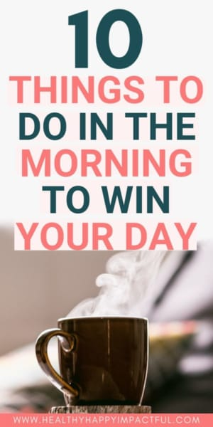 conquer the morning, conquer the day