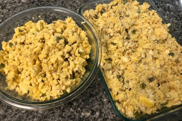 freezer meal party eggs