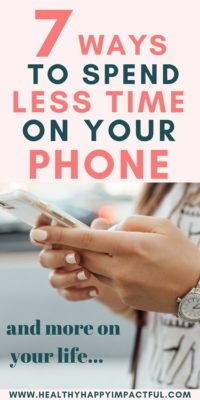 spend less time on your phone
