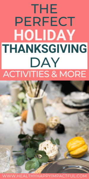 Thanksgiving Day Activities Pin