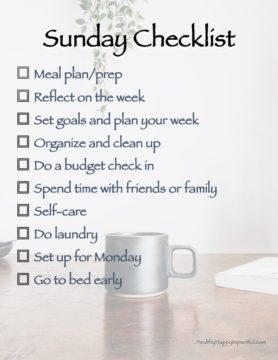 The Sunday checklist for an amazing week