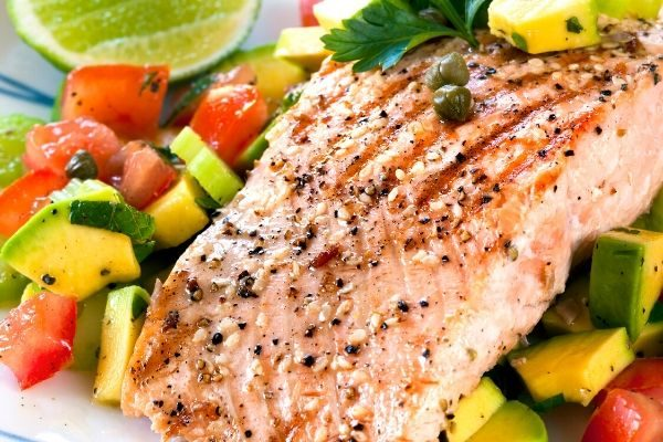 ways to be healthy, salmon