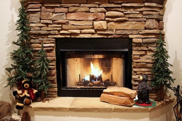 creating a cozy home: comfortable fireplace