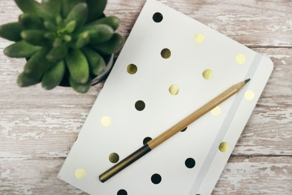 Journaling as a self care routine example