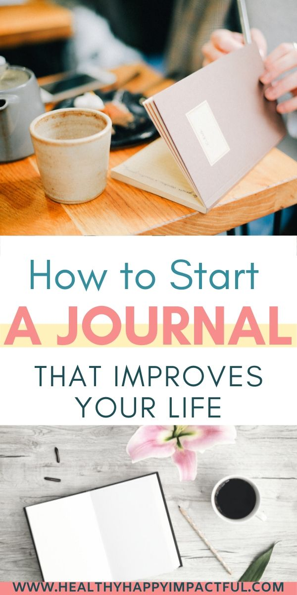 How to start your journal