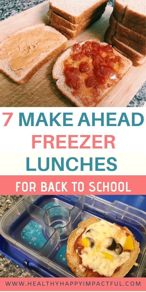 make ahead freezer lunches pin