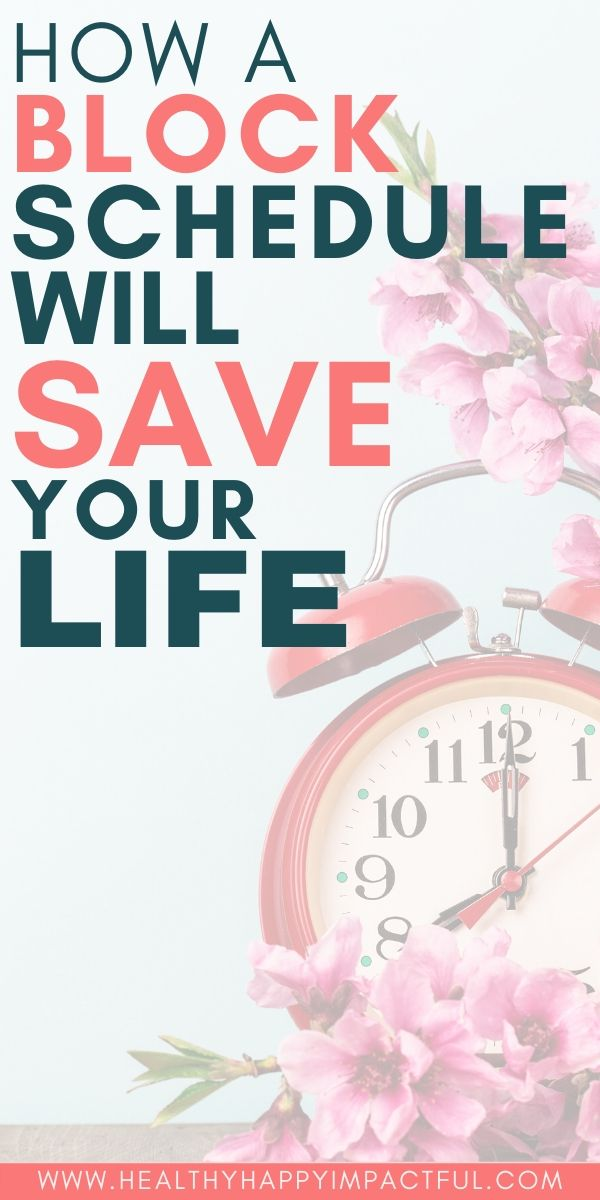 block schedule to save your life pin