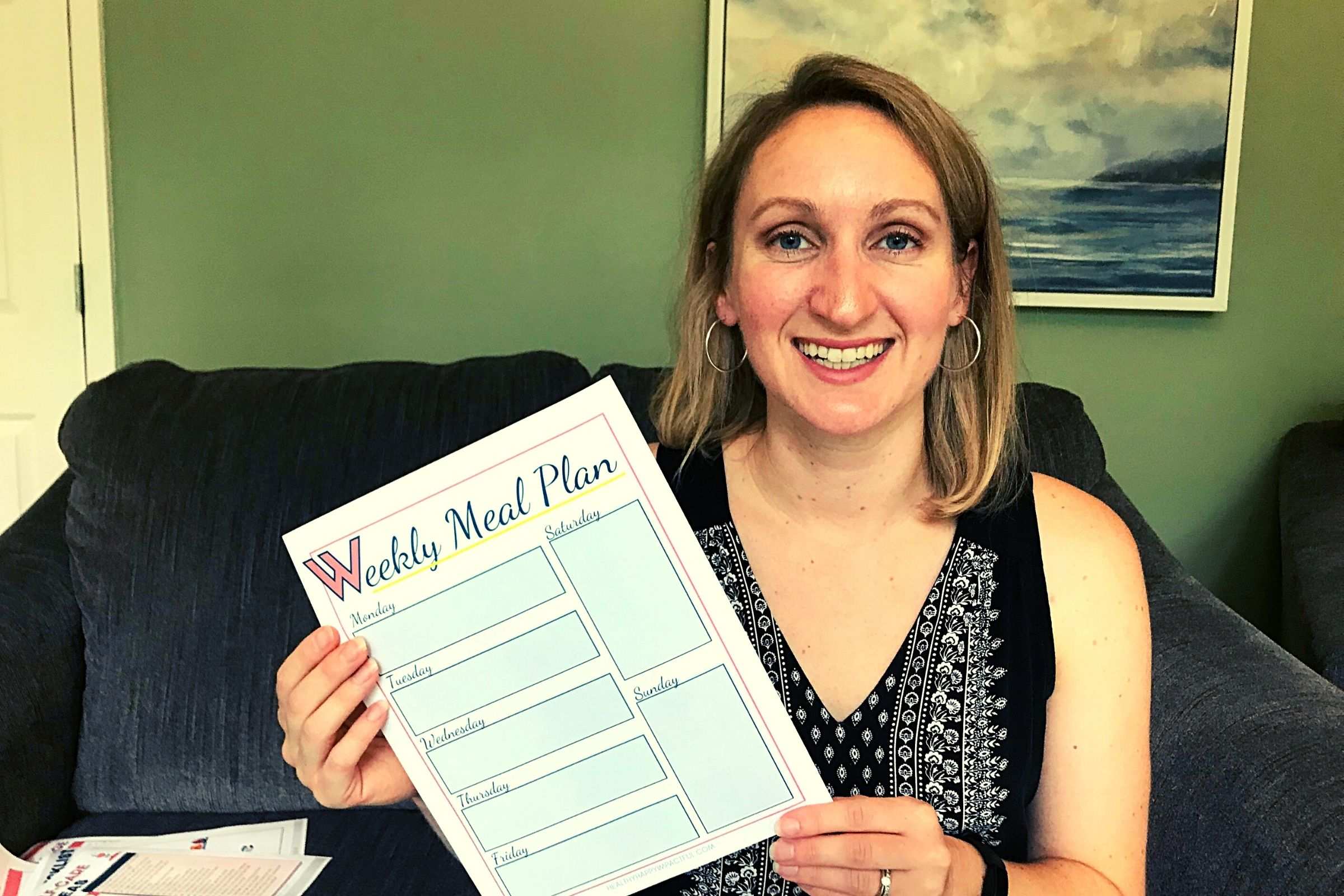 Meal planning template printable