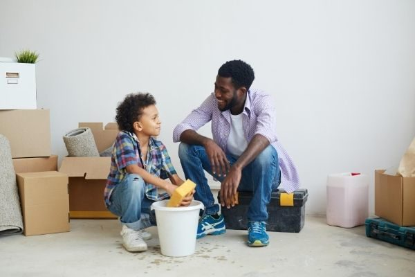 list of chores for kids, dad and son