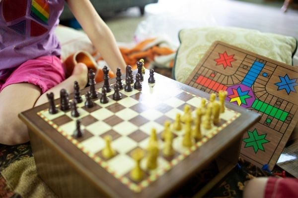 Checkers and chess for bet games for game night ideas