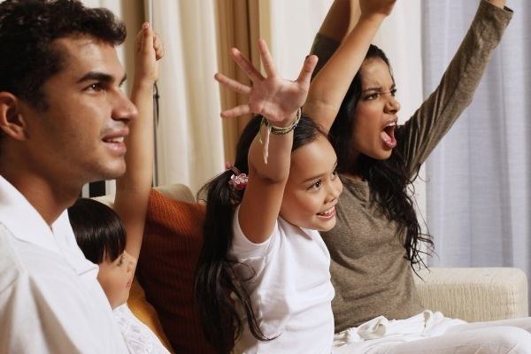 new year's family tradition ideas - watch a show