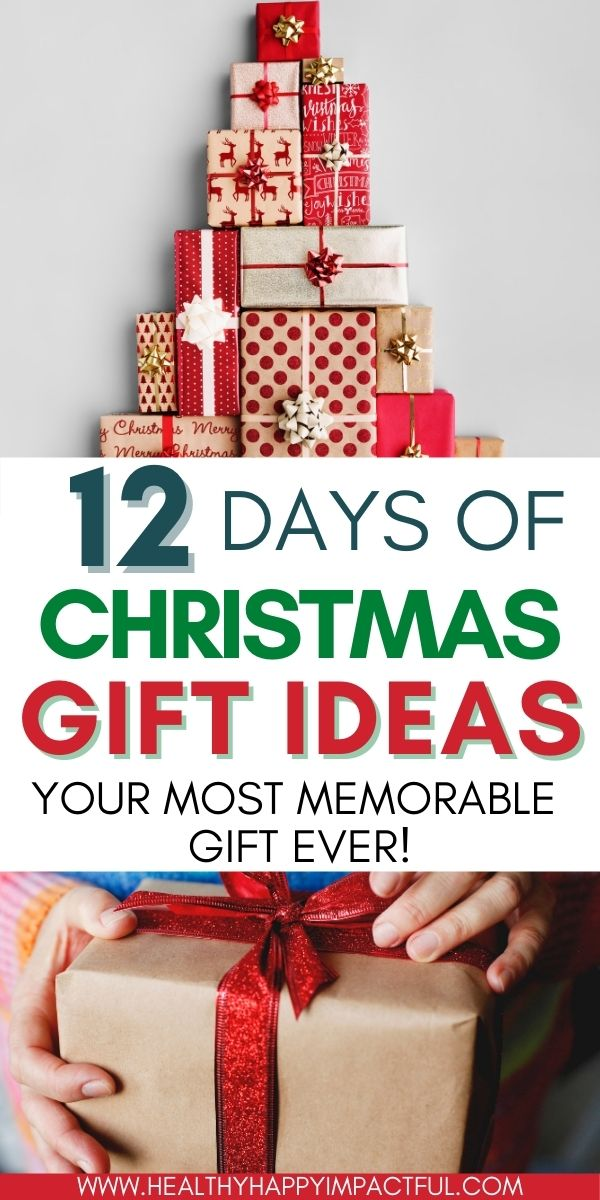 12 days of Christmas gift ideas for friends pin
