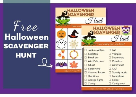 An Exciting Halloween Scavenger Hunt for Kids {Free Printables!}
