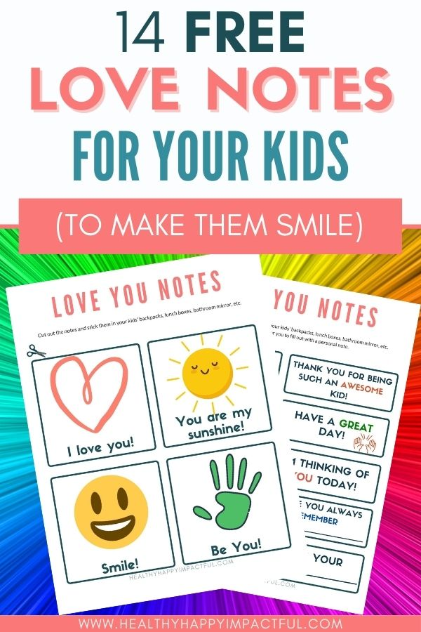 love notes for kids pin