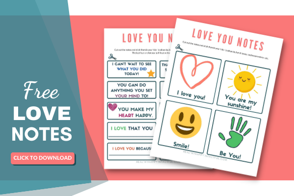 free little love notes for kids