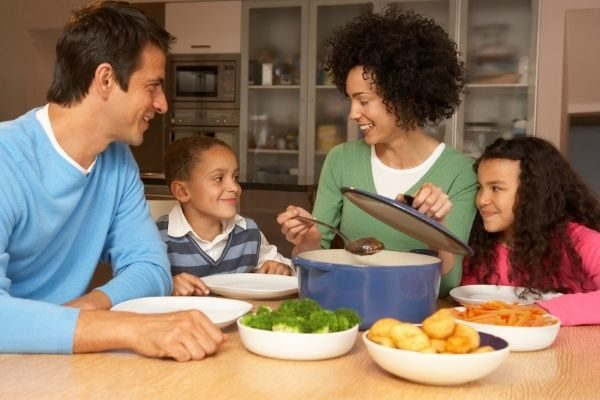 family meals for family goals examples