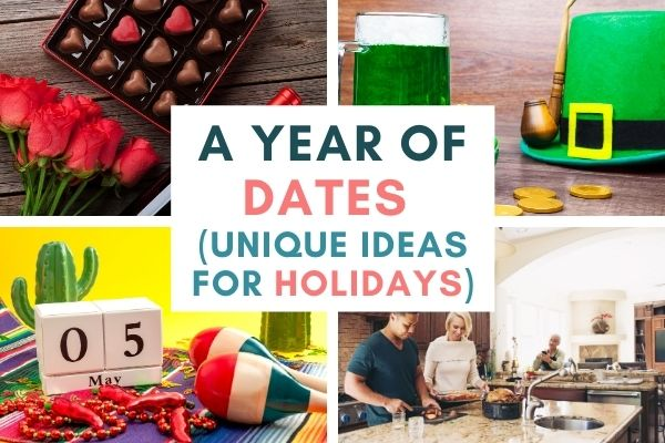 A year of dates, ideas for holidays