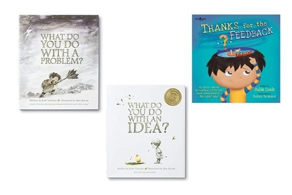 best books on growth mindest: What to do With a Problem, What to Do With an Idea, Thanks for the Feedback