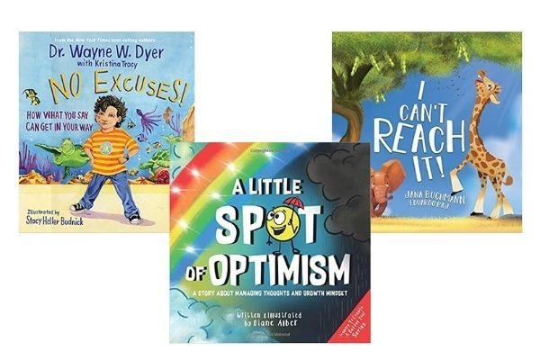 Best books on growth mindset: No excuses, A little spot of optimism, I can't Reach It