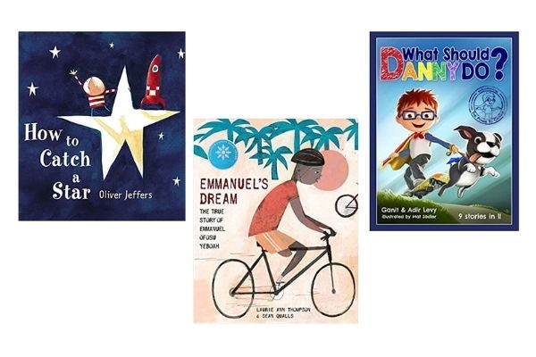 Growth mindset books for kids: How to Catch a Star, Emmanuel's Dream, What Should Danny Do?