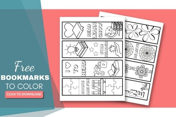 free printable bookmarks to color or colour(8)