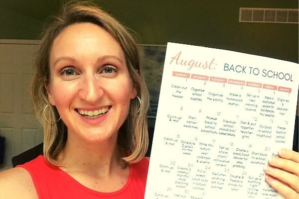 Free August Calendar Printable 2021: Organize for Back to School