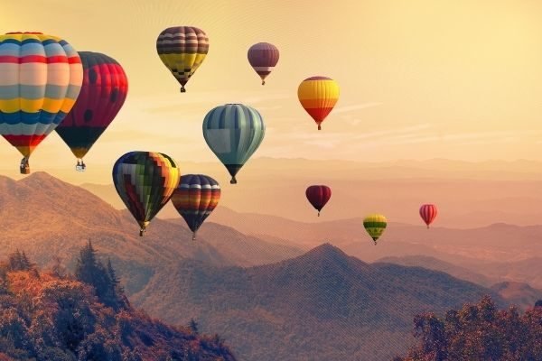 unique things to put on your gratitude list: hot air balloons