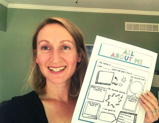 All About Me Worksheet Free Printable