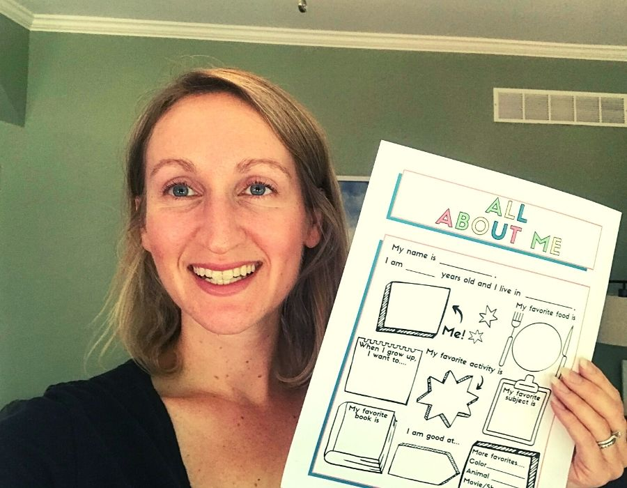 all about me worksheet template