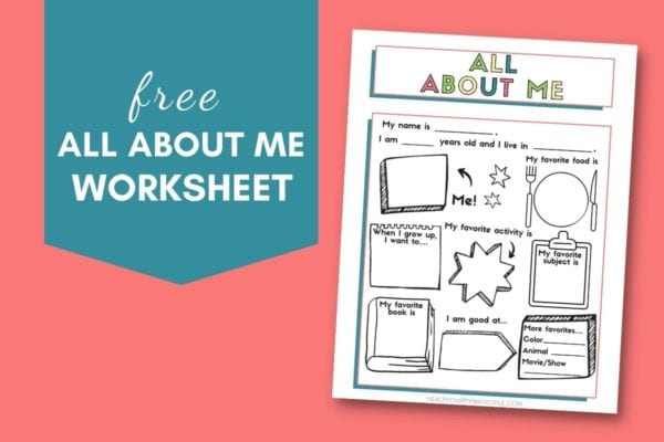 free printable all about me worksheet pdf  by Healthy Happy Impactful
