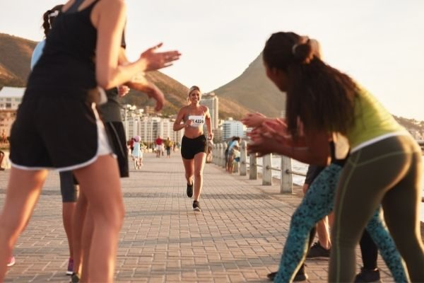 learning and challenges: woman running