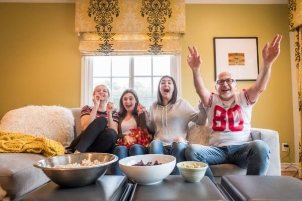 Favorite family traditions - relatives on game day