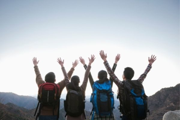 interesting conversation topics to talk about: group on a mountain
