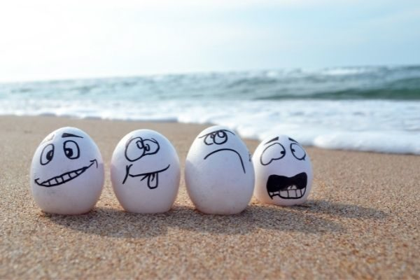 funny two truths and a lie examples: eggs on a beach