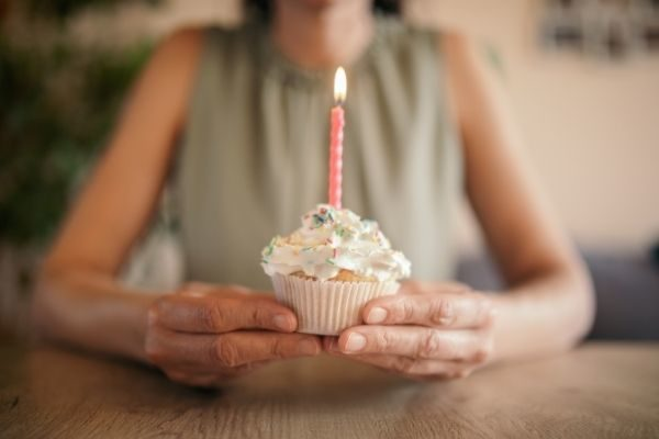 fun at home things to do for your birthday during covid or quarantine, woman and a candle