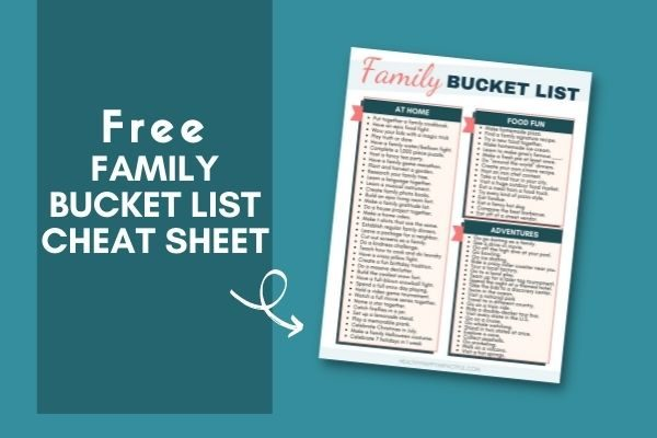 family things to do bucket list pdf