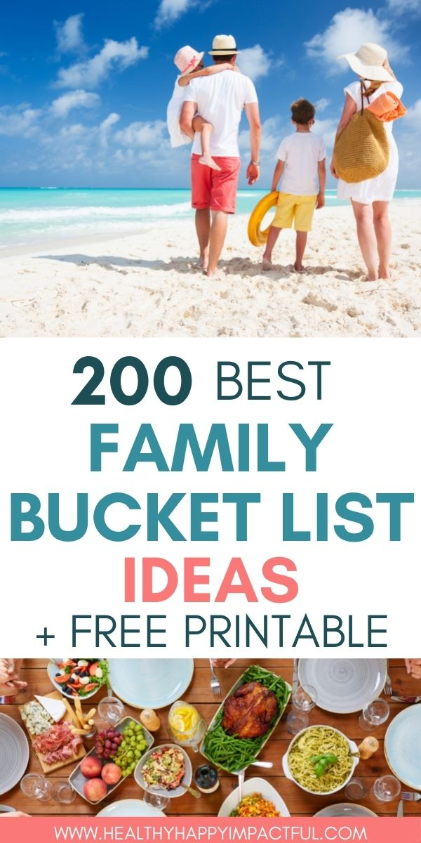 How to create a family bucket list pin