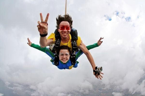 skydiving with family and friends