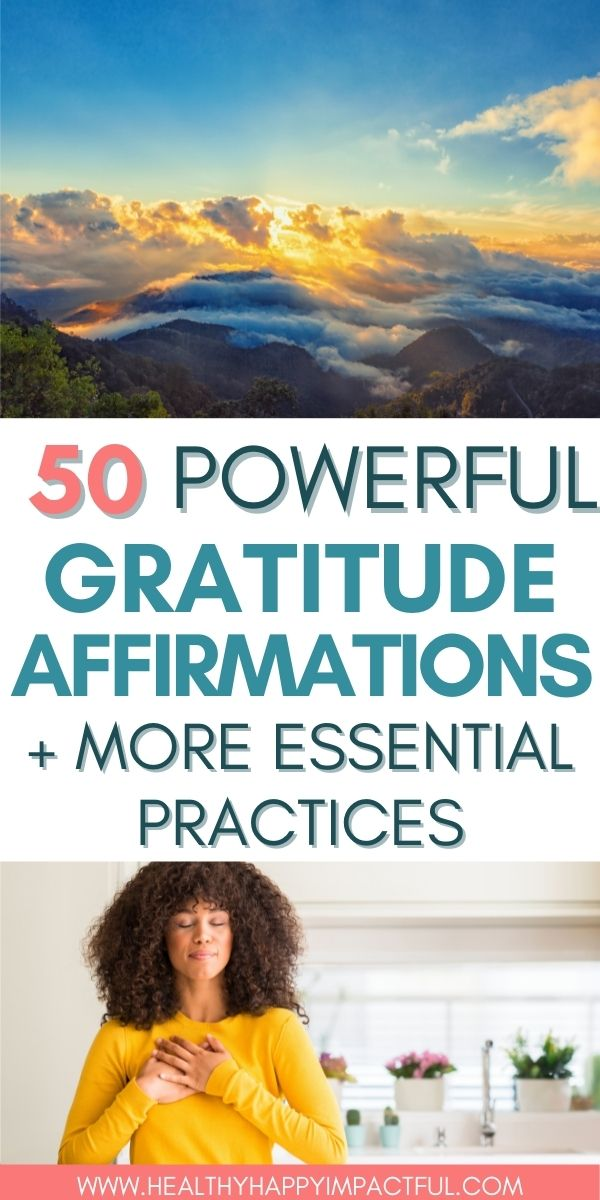 Good affirmations for gratitude pin