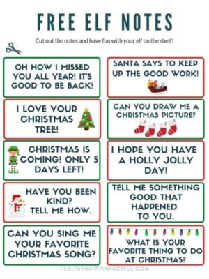 Free elf on the shelf notes and letters