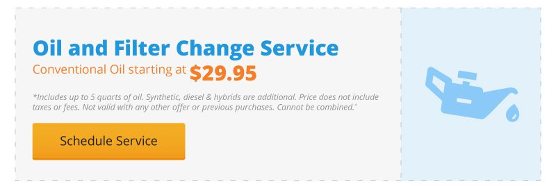 Oil and Filter Change Service starting at $29.95