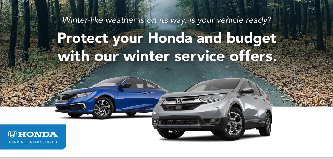 Protect your Honda and budget with our winter service offers.