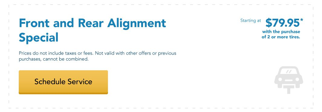 Front and Rear Alignment Special